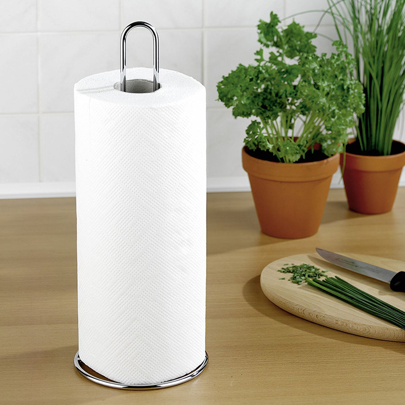 Toilet Paper Holder Bathroom Suction Hanger Tissue Rack Kitchen Towel Hook 12 X 32 X 12 Cm Silver Glossy