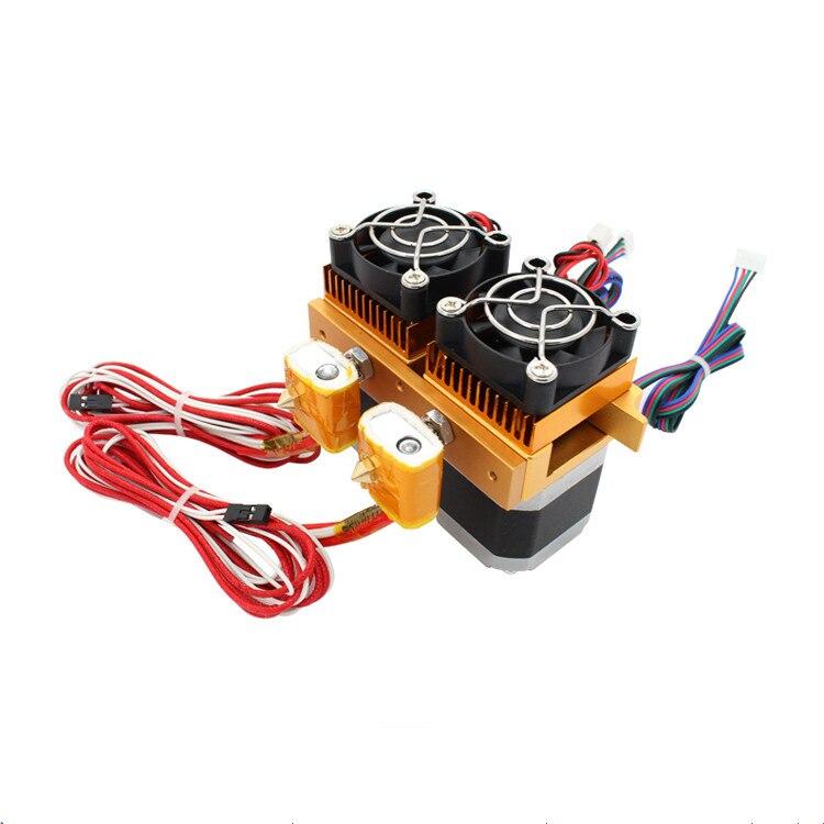 3D imprimante Tête D'impression MK8 double buse extrudeuse tête d'impression En Métal mise à niveau 1.75mm ABS/PLA tête