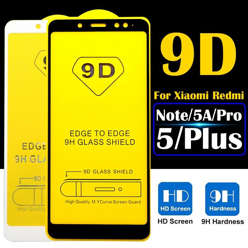 9D Защитное стекло для xiaomi ksiomi redmi 5 a защита для экрана xiomi xaomi readmi note 5a Pro Plus закаленное стекло pantalla
