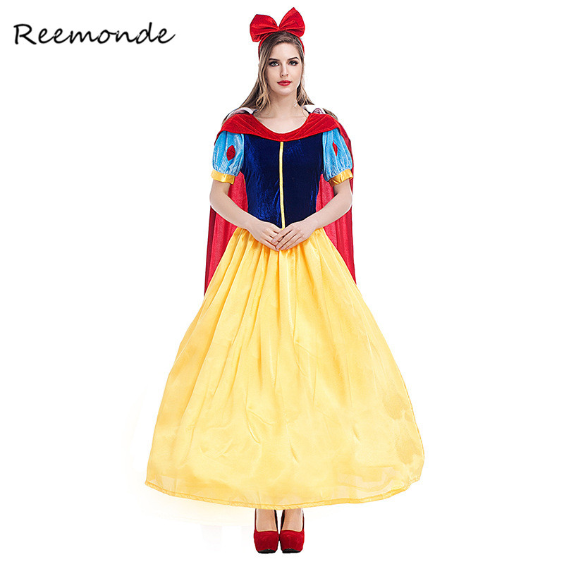 Anime Fairy Tale Cosplay Costume Adult Cartoon Princess Snow White Costumes For Halloween Party Fancy Tale Women Girls Dress