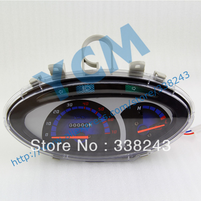 Electric Scooter 72V  Instrument , Motorcycle Speedometer, Tachometer , YB-ZS-DD-72V, Free Shipping