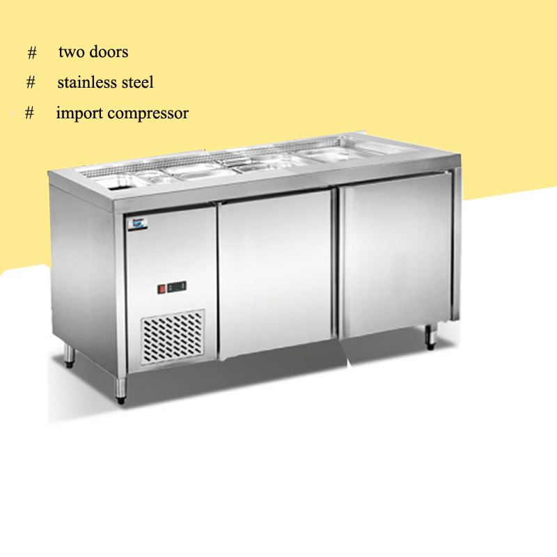 2 door import compressor commercial refrigerator for fruits and vegetables salad bar horizontal refrigerator sale in food processors from home appliances on - Commercial Refrigerator For Sale