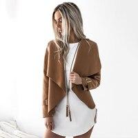 Printemps Été 2018 femmes Nouvelle Mode en daim veste court paragraphe Revers de laine Mince de base Veste manteaux femme Vestes Femmes
