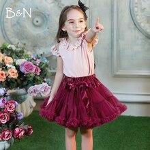 Новинка 4 винтажных цвета: серебристо-серый/бордовый/темно-синий/тускло-розовый детская пышная юбка для девочек детские подъюбники