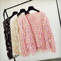 Mulheres designer de moda senhoras borla cardigan camisola outerwear gota loja WS1458 shippment livre