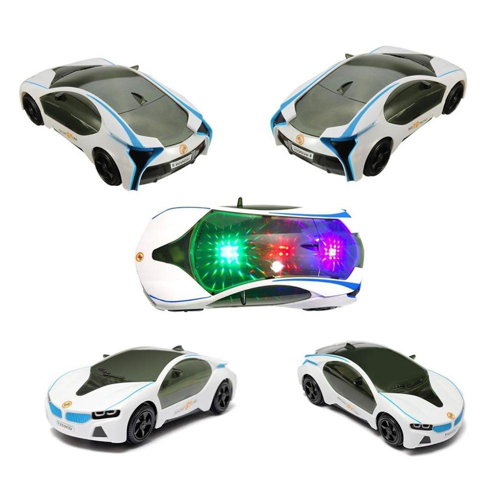 3D Automatic LED Flashing Light Luxury Car Model Music Sound Electric Toy Kids Children Gift Crafts Decoration Collection Toy