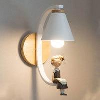 נורדי חדר שינה מנורת קיר סלון קיר מעבר מנורות קיר מרפסת מודרני מינימליסטי המיטה מנורת led דקורטיבי תאורה קבועה