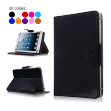 Stand Flip Pu Leather-based Case For SUPRA M748G/M742G/M741G Pill Computer Case Again Cowl 7 inch Common w/Display screen Protector Movie