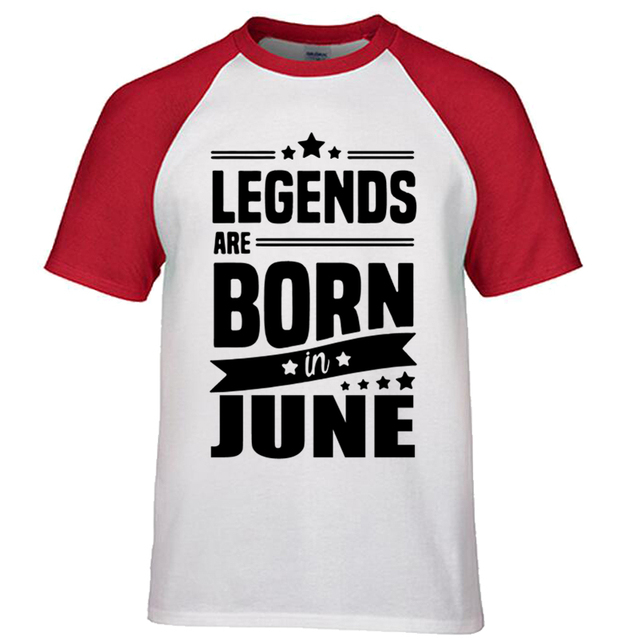 Summer Mens Print T Shirt Legends Are Born In June
