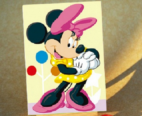 MicKey mouse Minnie DIY Digital Oil Painting By Numbers Pictures ...