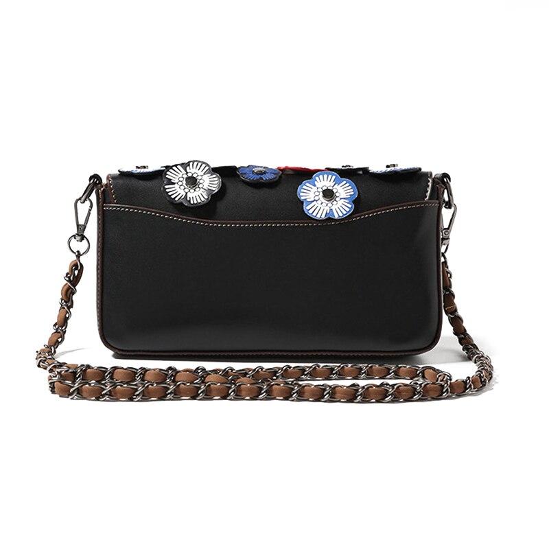 Women 3D Flower Women' Small Messenger Bag Fashion Chain Shoulder Bags Fashion Girls Crossbody Flap Bag