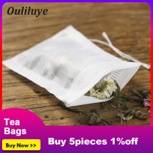 100PCS/Lot Convenient Disposa Tea Bags or Silicone Snail Clip Disposable for Green Puer Flower Leaf Filters Bag