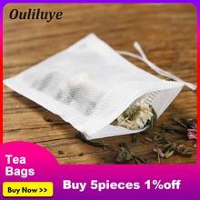 100PCS/Lot Convenient Disposa Tea Bags or Silicone Snail Tea Clip Disposable Tea Bags for Green Puer Flower Tea Leaf Filters Bag цена