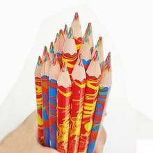 Cute Art Colored Pencil 4 in 1 Multicolor Wooden Pencils for Drawing Graffiti Pen Kids Crayon Marker Pens Office School Supplies uni colored pencil crayon art drawing crayons school stationery office art supplies oil crayons rip by hand crayon 7600
