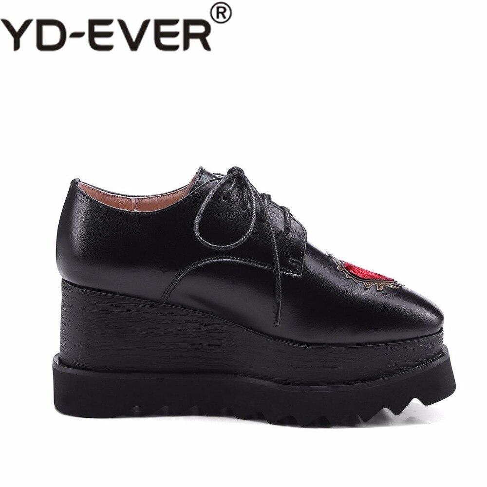 Pompes Cuir Chaussures Véritable De Lacent Amour Sport Femmes Noir Modèles Coins Taille Main En blanc Carré Augmenté Bout Grande 1qwRIEgfzK