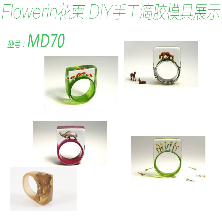 Flower Invitation Ring Mold MD1134_Handmade Mold Transparent Silicone Ring Mould For Epoxy Resin With Real Flower Herbarium DIY