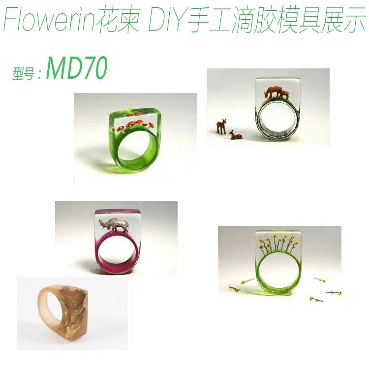 Molde de anillo Flower Invitation md1134_hecho a mano molde de anillo de silicona transparente para Resina epoxi con flores reales herbario DIY Reloj de pared DIY a la moda, pegatinas acrílicas personalizadas para espejo, reloj de cuarzo decorativo grande para sala de estar