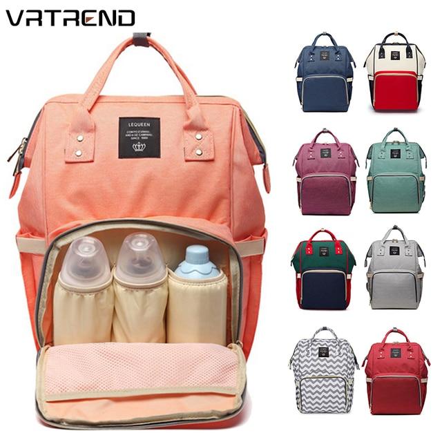 VRTREND New Baby Diaper Bag Waterproof Mummy Maternity Nappy Bag Large Capacity Baby Bag Travel Backpack Designer Nursing Bag