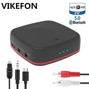 Image 1 - Csr8675/csr8670 bluetooth 5.0 transmissor receptor aptx hd/ll mini adaptador de áudio sem fio 3.5mm aux/spdif/rca para o orador do carro da tevê