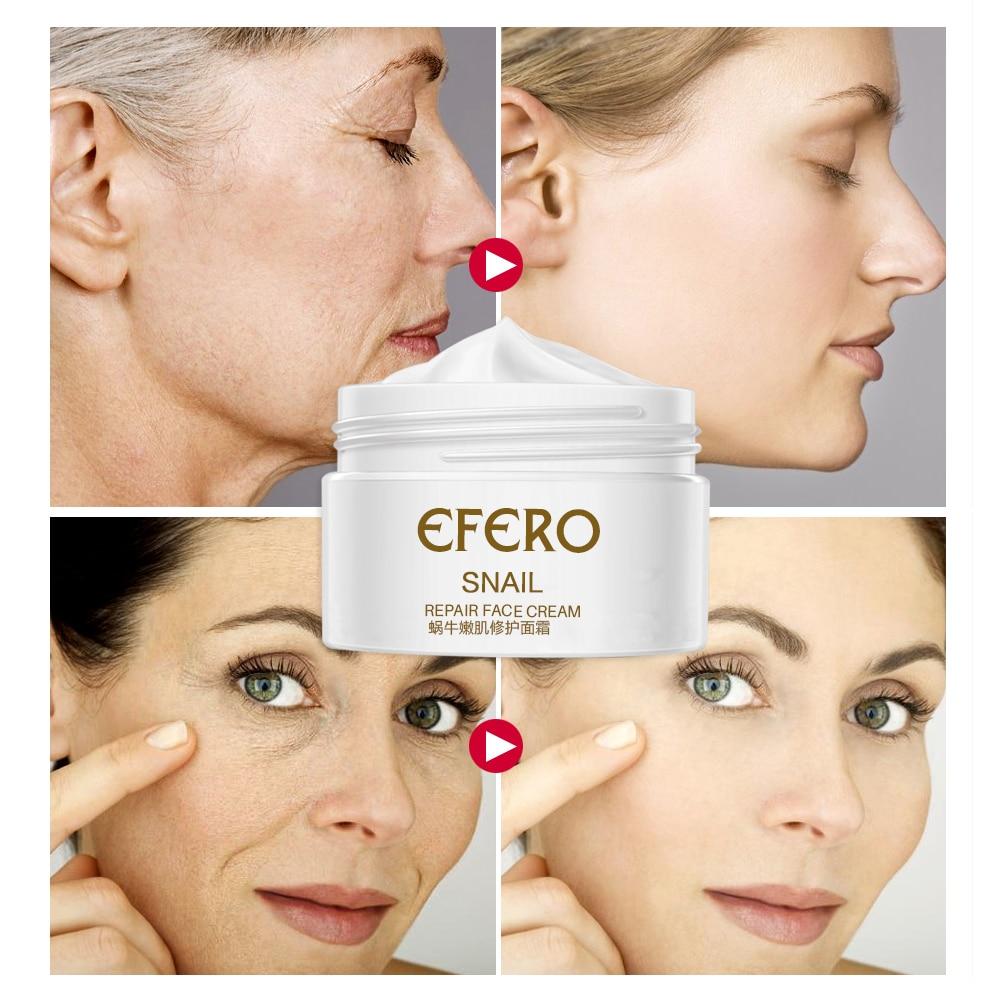 efero Snail Cream Moisturizing Face Cream for Snail Repair Anti Aging Essence Face Whitening Cream Wrinkles Firming Skin Care 5