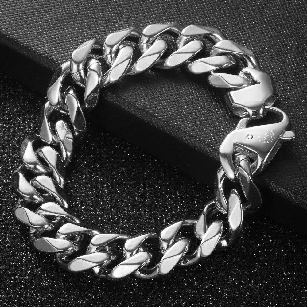 High Quality Stainless Steel Heavy Men's Bracelet