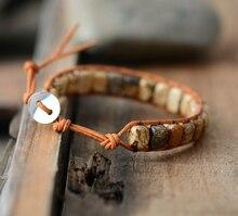 Ethnic Style Bracelet with Stone Beads