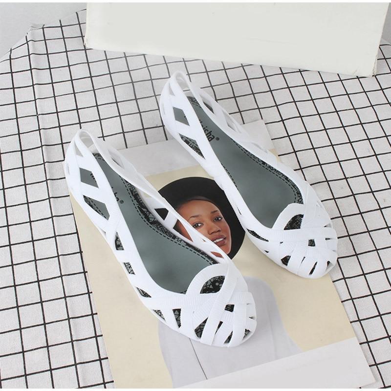 MCCKLE Summer Women Sandals Hollow Flat Shoes Female Slip On Sandals Fashion Soft Light Slides Ladies Comfortable Beach Shoes