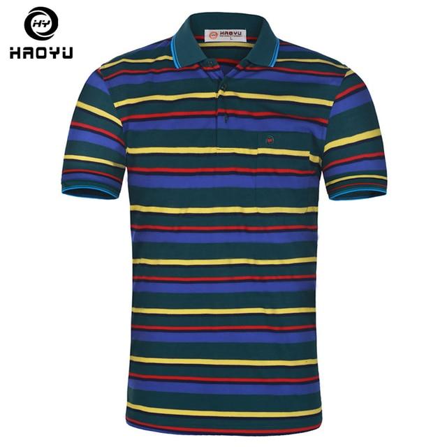 2016 Summer Men Striped Polo Shirt Turn-down Collar Casual Slim Fit Short Sleeve Cotton Polo Shirt Big Size M-XXL Free Shipping