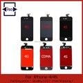 50 pcs frete grátis display lcd para iphone 4, 4s com tela sensível ao toque de substituição digitador de vidro preto e branco