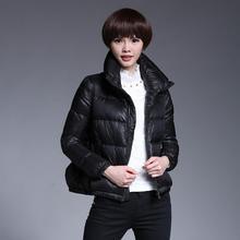 2016 зимняя мода женская отличное качество 80% утка вниз парки Европейский Станция короткий толстый теплый пуховик пальто w1442
