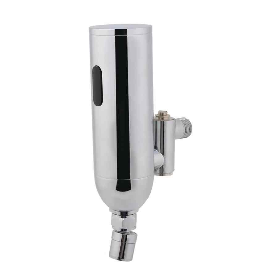 Grifo mezclador de Sensor de movimiento de cuerpo inteligente de montaje en pared Cpper cromado automático de baño para fregadero de cocina grifo