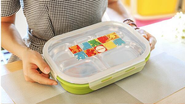 Prenosna škatla za hrano iz kovine iz nerjavečega jekla, ljubka - Kuhinja, jedilnica in bar - Fotografija 4