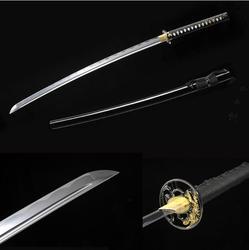 Bushido fatti a mano katanas spade katanas samurai giapponese spade Sharp katana artigianato In Metallo della lega tsuba in pelle sintetica