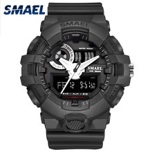 Watches Men SMAEL Sport Watch Waterproof Dual Time Running Black Clock 1642 Relogio Military Army Mens Watch Digital Male Clock