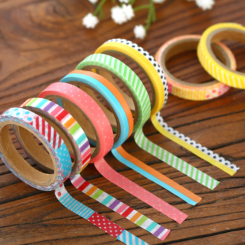 18 Pcs Vintage Washi Tape Set Decoration Masking Tapes Slim Stickers For Diary Album Phone Book Stationery School Supplies F872