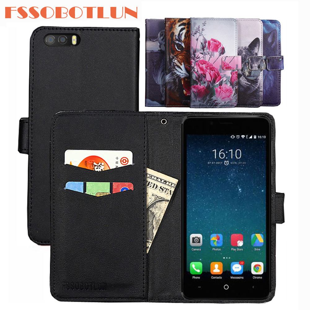 FSSOBOTLUN For <font><b>Leagoo</b></font> <font><b>P1</b></font> <font><b>Pro</b></font> Case PU Leather Retro Flip Cover Shell Magnetic Fashion Wallet Cases Kickstand Strap Shell image