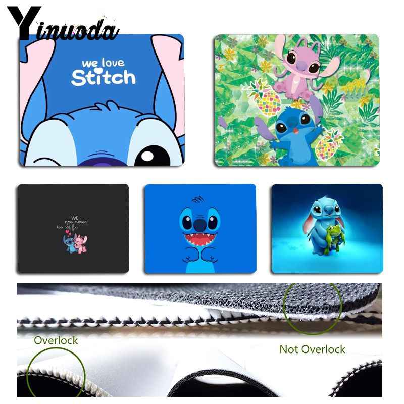 Yinuoda Custom Skin Cartoon Stitch Durable Rubber Mouse Mat Pad Size for 18x22cm 25x29cm Rubber Mousemats