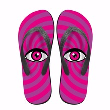 Noisydesigns 다채로운 줄무늬 눈 남자 신발 집게 옴 인쇄 내마 모성 남성 집 층 가벼운 부드러운 해변 Chinelos