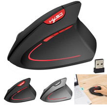 T24 2400DPI Wireless Vertical gaming mouse  2.4GHz Game Ergonomic Design USB optical Mouse wireless for laptop PC