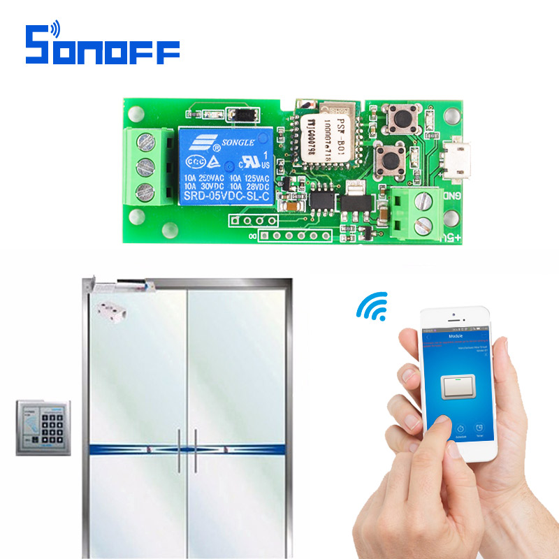 SONOFF DC 5v 12V 24V 32v Smart Home jog / self-locking Wifi Wireless Remote Control Timer Switch Module for IOS/Android sonoff for ios android usb 5v diy 1 channel jog inching self locking wifi wireless smart home switch app remote control module