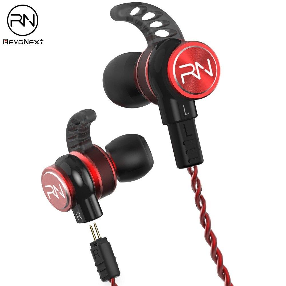 Revonext RX6 1DD+1BA Hybrid In Ear Earphone HIFI DJ Monitor Running Sport Earphone Earplug Headset Earbud Upgraded RX8
