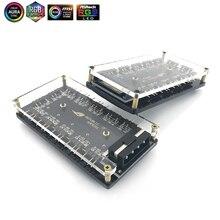 ASUS AURA concentrador de interfaz RGB de 5V y 3 pines, divisor de sincronización, cabezal de 3 pines, ventilador de placa base, fuente de alimentación síncrona mágica