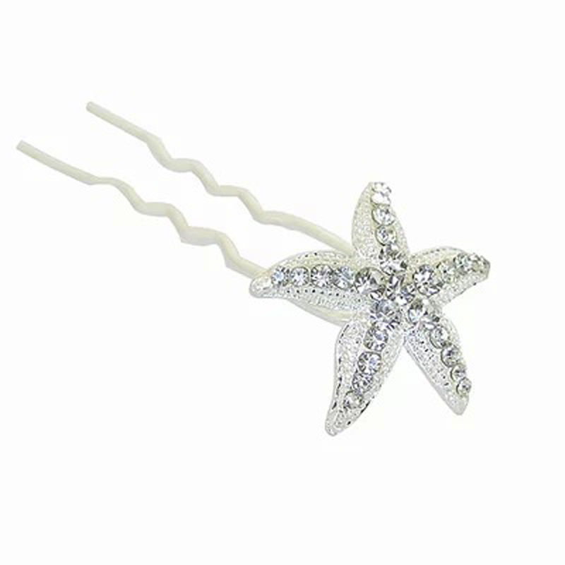 US $9.99 |12pcslot Starfish Wedding Accessories Hair Pins Crystal Hair Clip for Bridal Hair Accessories Jewelry epingle cheveux mariage in Hair