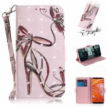 PU Leather Photo Cases For Covers Nokia 3.1 Plus 5.1 6.1 7.1 8.1 2018 X7 X6 X5 Flowers Flip Fundas Book Capa Stand Wallet E26Z
