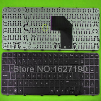 Free Shipping New SP Spanish Laptop Keyboard For HP G6 2000 GLOSSY FRAME BLACK