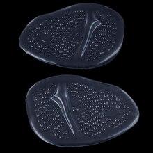 1 çift kadınlar 4D silikon jel ön ayak pedi Anti kayma ağrı kesici için kalınlaşmak yüksek topuklu sıcak yeni