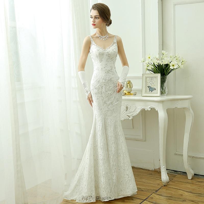 Hot sale elegant beautiful lace flowers mermaid wedding for Mermaid wedding dresses on sale