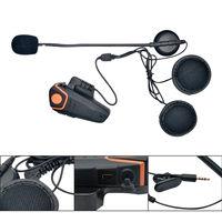 Motorcycle Helmet Headset Bluetooth 1000M Stereo Intercom Communication BT Helmet Headset Waterproof