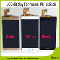 1/PCS P8 LCD Display+Touch Screen Digitizer Glass Panel For Huawei Ascend P8 lcd Replacement 5.2 inch
