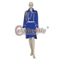 Cosplaydiy Fullmetal Alchemist Winry Rockbell Cosplay Costume Adult Women Halloween Costumes Custom Made D0723